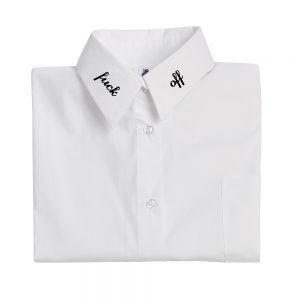 """White shirt """"f*** off """""""