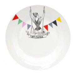 """Table Dessert Plate """"rhythm """""""