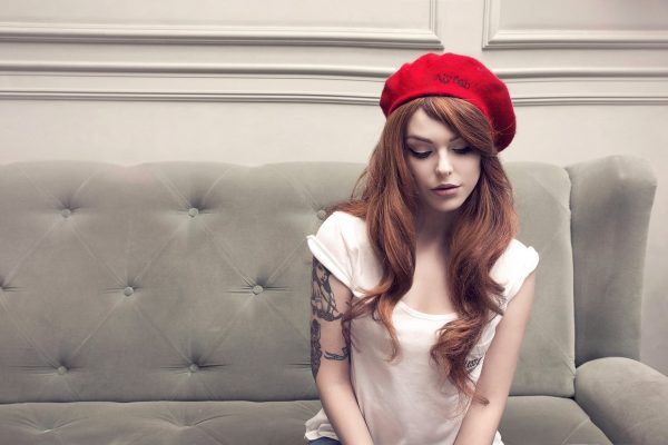 Woman red beret