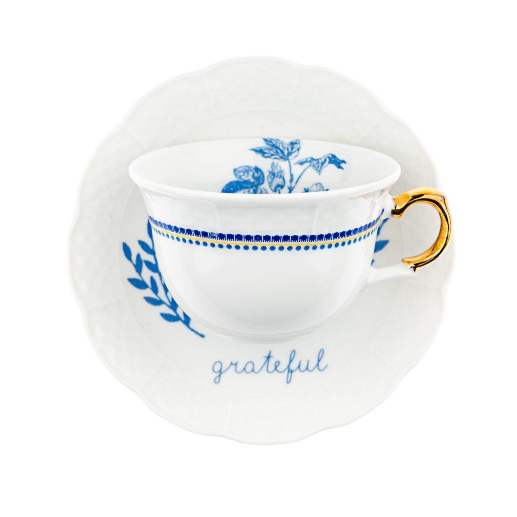 Grateful tea cup