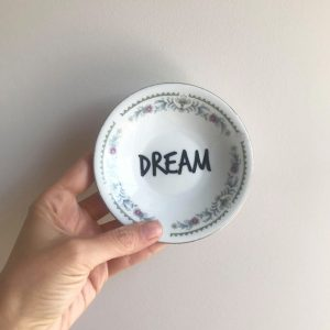 Dream porcelain plate