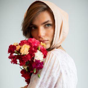 Headscarf pastel pink Liberte