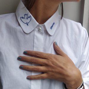 whitwe shirt liberte