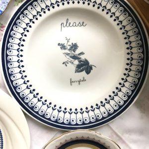 Porcelain plate PLEASE