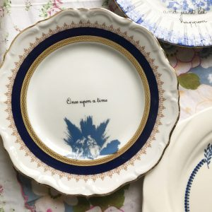 Porcelain plate ONCE UPON