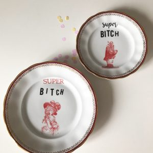 Serving plate SUPER BITCH
