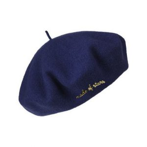 Made of stars navy blue beret